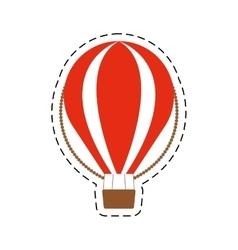 Airballoon recreation vacation travel cut line vector