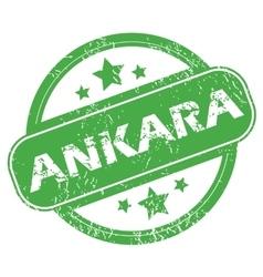 Ankara green stamp vector