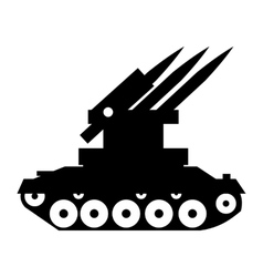 Anti-aircraft warfare simple icon vector