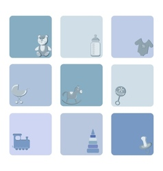 baby icons set vector image vector image