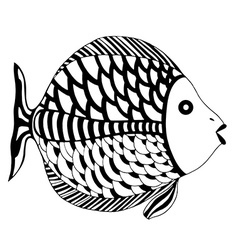 beautiful Patterns stylized Fish vector image