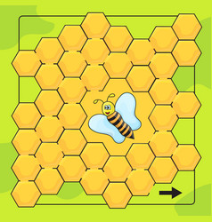 bee and honeycomb game for preschool children vector image vector image