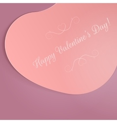 Big valentines day card on purple background vector