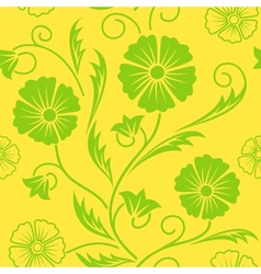 Bright floral ornate seamless pattern vector image vector image