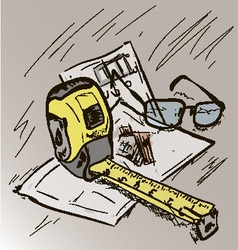 building plan vector image vector image