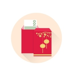 Chinese new year red envelope flat icon vector