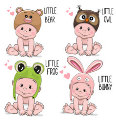 cute cartoon baby vector image vector image