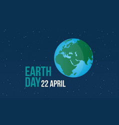 Earth day with world at night vector