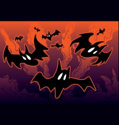 Halloween with bats vector