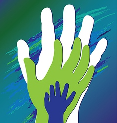 hand three vector image