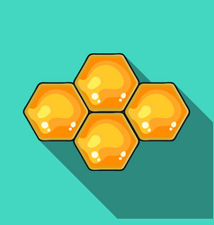 honeycombs icon in flat style isolated on white vector image vector image