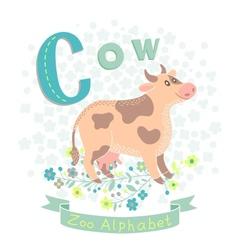 Letter c - cow vector