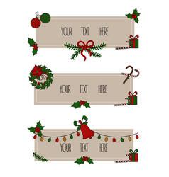 merry christmas grreting card vintage card vector image