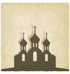 Orthodox church old background vector image vector image