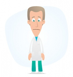 sad doctor vector image vector image