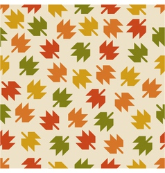 Seamless pattern with the falling leaves vector
