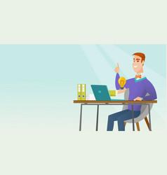 successful business idea vector image vector image