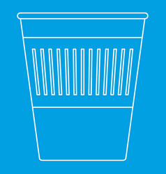 Trash basket icon outline style vector