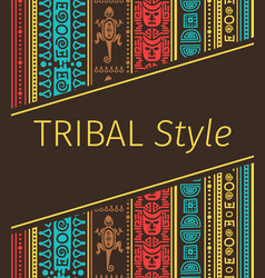 Tribal style design in brown colors vector