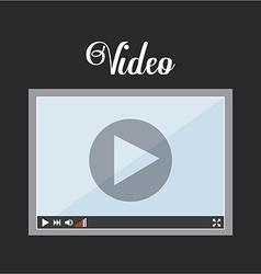 Video player icon design vector