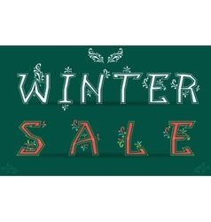 Winter sale card for retail vector