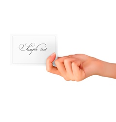 woman hand with card vector image vector image