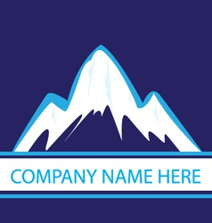 Mountains in navy color logo vector