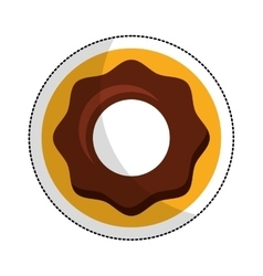 Sweet donut isolated icon vector