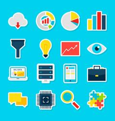 Big data stickers vector