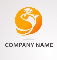 logo goldfish vector image