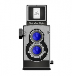 twin lens reflex camera vector image