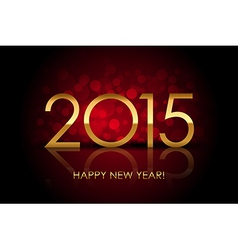 2015 - happy new year red blurred background vector