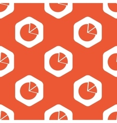 Orange hexagon diagram pattern vector image