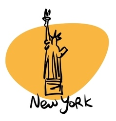 New york usa statue of liberty vector