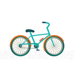 Colorful bike on the road vector