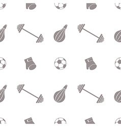 Seamless pattern with grey sports equipment vector