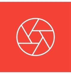 Camera shutter line icon vector
