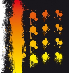 Paint spray elements vector