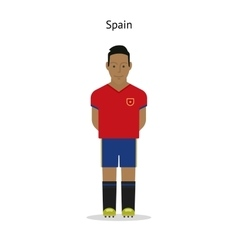 Football kit spain vector