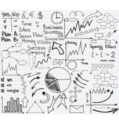 Sketch business set2 vector