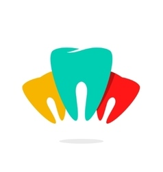 Abstract teeth dental care logo vector