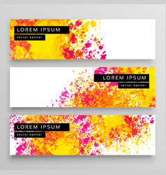 abstract watercolor web banner design background vector image vector image