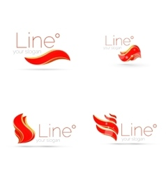 Abstract wave line logo vector image vector image