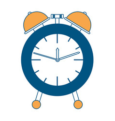 alarm clock color section silhouette on white vector image vector image