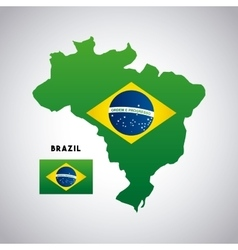 Brazil country map vector