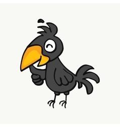 Cartoon of cute crow vector