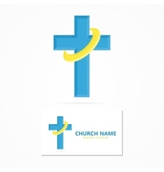 christian church logo design vector image