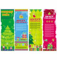 christmas banners with copy space vector image vector image