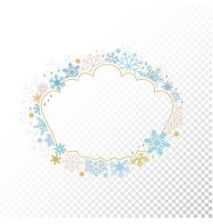 circle snowflake frame xmas framework vector image vector image