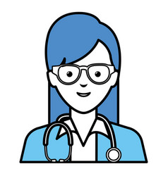 Female doctor avatar character vector
